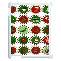 Christmas Apple Ipad 2 Case (white) by Mariart