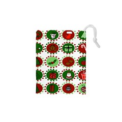 Christmas Drawstring Pouches (xs)  by Mariart