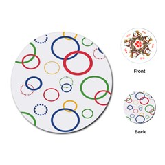 Circle Round Green Blue Red Pink Yellow Playing Cards (round)  by Mariart