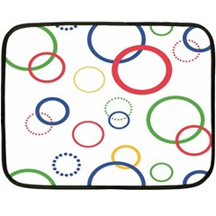 Circle Round Green Blue Red Pink Yellow Fleece Blanket (mini) by Mariart