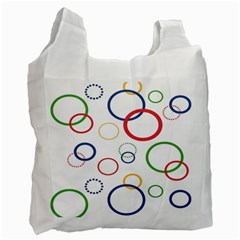 Circle Round Green Blue Red Pink Yellow Recycle Bag (two Side)  by Mariart