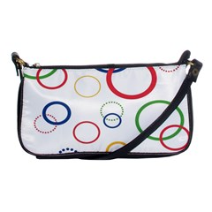 Circle Round Green Blue Red Pink Yellow Shoulder Clutch Bags by Mariart