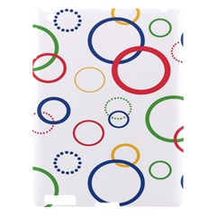 Circle Round Green Blue Red Pink Yellow Apple Ipad 3/4 Hardshell Case by Mariart