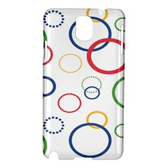Circle Round Green Blue Red Pink Yellow Samsung Galaxy Note 3 N9005 Hardshell Case
