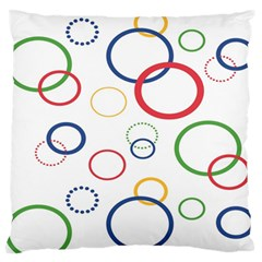 Circle Round Green Blue Red Pink Yellow Standard Flano Cushion Case (one Side) by Mariart