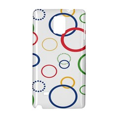 Circle Round Green Blue Red Pink Yellow Samsung Galaxy Note 4 Hardshell Case by Mariart