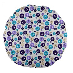 Buttons Chlotes Large 18  Premium Round Cushions by Mariart