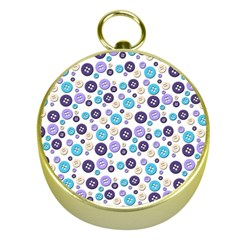 Buttons Chlotes Gold Compasses by Mariart