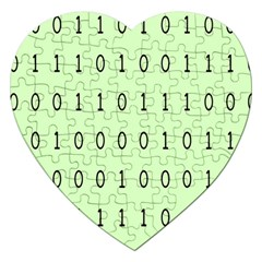 Code Number One Zero Jigsaw Puzzle (heart) by Mariart