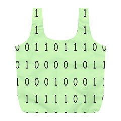 Code Number One Zero Full Print Recycle Bags (l)  by Mariart