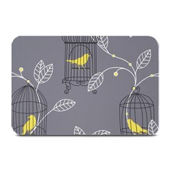 Cagr Bird Leaf Grey Yellow Plate Mats by Mariart