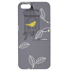 Cagr Bird Leaf Grey Yellow Apple Iphone 5 Hardshell Case With Stand by Mariart