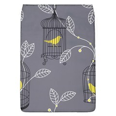 Cagr Bird Leaf Grey Yellow Flap Covers (l)  by Mariart