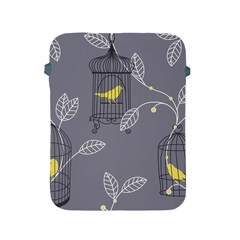 Cagr Bird Leaf Grey Yellow Apple Ipad 2/3/4 Protective Soft Cases by Mariart