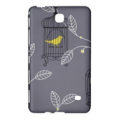 Cagr Bird Leaf Grey Yellow Samsung Galaxy Tab 4 (7 ) Hardshell Case  by Mariart
