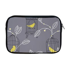 Cagr Bird Leaf Grey Yellow Apple Macbook Pro 17  Zipper Case by Mariart
