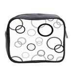 Circle Round Black Grey Mini Toiletries Bag 2-Side Back