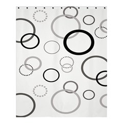 Circle Round Black Grey Shower Curtain 60  X 72  (medium)  by Mariart