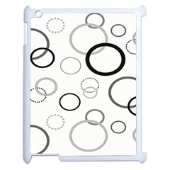 Circle Round Black Grey Apple Ipad 2 Case (white) by Mariart