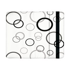 Circle Round Black Grey Samsung Galaxy Tab Pro 8 4  Flip Case by Mariart