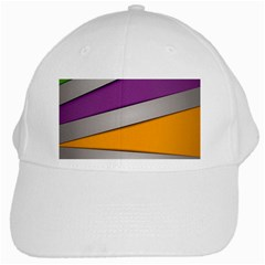 Colorful Geometry Shapes Line Green Grey Pirple Yellow Blue White Cap by Mariart