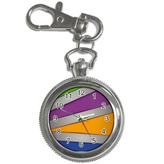 Colorful Geometry Shapes Line Green Grey Pirple Yellow Blue Key Chain Watches by Mariart