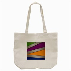 Colorful Geometry Shapes Line Green Grey Pirple Yellow Blue Tote Bag (cream) by Mariart