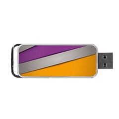 Colorful Geometry Shapes Line Green Grey Pirple Yellow Blue Portable Usb Flash (one Side) by Mariart