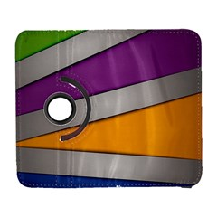 Colorful Geometry Shapes Line Green Grey Pirple Yellow Blue Galaxy S3 (flip/folio) by Mariart