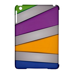 Colorful Geometry Shapes Line Green Grey Pirple Yellow Blue Apple Ipad Mini Hardshell Case (compatible With Smart Cover) by Mariart