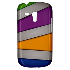 Colorful Geometry Shapes Line Green Grey Pirple Yellow Blue Galaxy S3 Mini