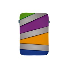 Colorful Geometry Shapes Line Green Grey Pirple Yellow Blue Apple Ipad Mini Protective Soft Cases by Mariart