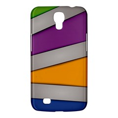 Colorful Geometry Shapes Line Green Grey Pirple Yellow Blue Samsung Galaxy Mega 6 3  I9200 Hardshell Case by Mariart