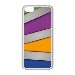 Colorful Geometry Shapes Line Green Grey Pirple Yellow Blue Apple Iphone 5c Seamless Case (white) by Mariart