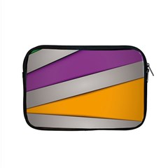 Colorful Geometry Shapes Line Green Grey Pirple Yellow Blue Apple Macbook Pro 15  Zipper Case by Mariart