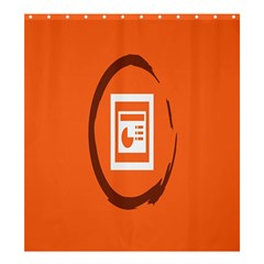 Circles Orange Shower Curtain 66  X 72  (large)  by Mariart