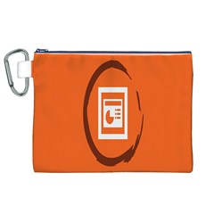 Circles Orange Canvas Cosmetic Bag (xl) by Mariart