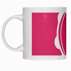 Circle White Pink White Mugs by Mariart