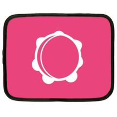 Circle White Pink Netbook Case (xl)  by Mariart