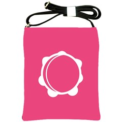 Circle White Pink Shoulder Sling Bags by Mariart