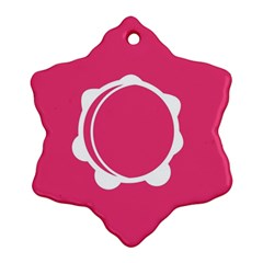 Circle White Pink Snowflake Ornament (two Sides) by Mariart