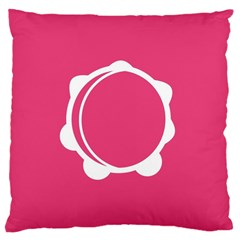 Circle White Pink Large Cushion Case (two Sides) by Mariart