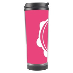 Circle White Pink Travel Tumbler by Mariart