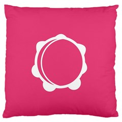Circle White Pink Large Flano Cushion Case (two Sides) by Mariart