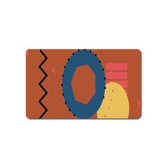 Digital Music Is Described Sound Waves Magnet (name Card) by Mariart