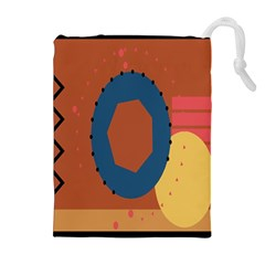 Digital Music Is Described Sound Waves Drawstring Pouches (extra Large) by Mariart