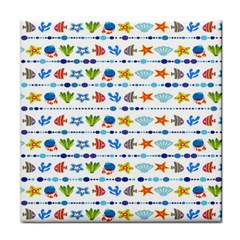 Coral Reef Fish Coral Star Tile Coasters by Mariart