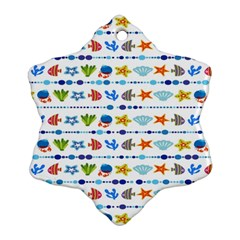 Coral Reef Fish Coral Star Snowflake Ornament (two Sides) by Mariart