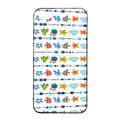 Coral Reef Fish Coral Star Apple Iphone 4/4s Seamless Case (black)