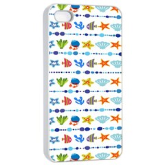 Coral Reef Fish Coral Star Apple Iphone 4/4s Seamless Case (white) by Mariart